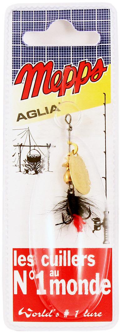 Блесна MEPPS Aglia OR Mouch. Rouge, вращающаяся, №0, цвет: золотой, черный, 2,5 г цены