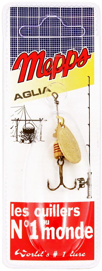 Блесна MEPPS Aglia OR, вращающаяся, №1, цвет: золотой, 3,5 г