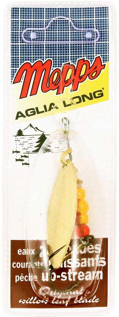 Блесна MEPPS Aglia Longue OR, вращающаяся, №3, цвет: золотой, 11,5 г