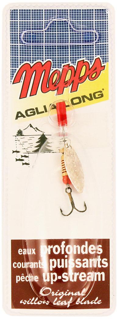 Блесна MEPPS Aglia Longue AG, вращающаяся, №00, цвет: серебристый, 1,5 г