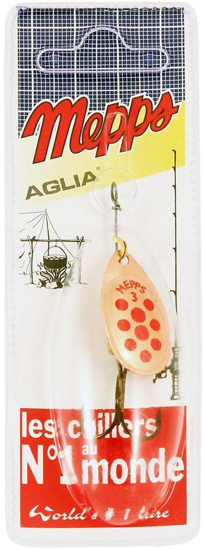 Блесна MEPPS Aglia PTS Rouges CU, вращающаяся, №3, цвет: медь, красный, 6,5 г