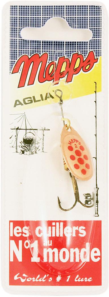 Блесна MEPPS Aglia PTS Rouges CU, вращающаяся, №2, цвет: медь, красный, 4,5 г