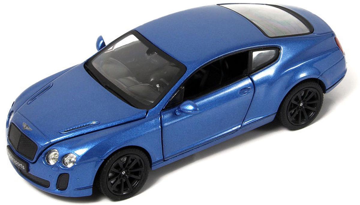 Машинка Hoffmann Bentley Continental GT Supersport, цвет: синий, масштаб 1:24 motormax коллекционная модель мотоцикла kawasaki vulcan цвет синий серебристый масштаб 1 18