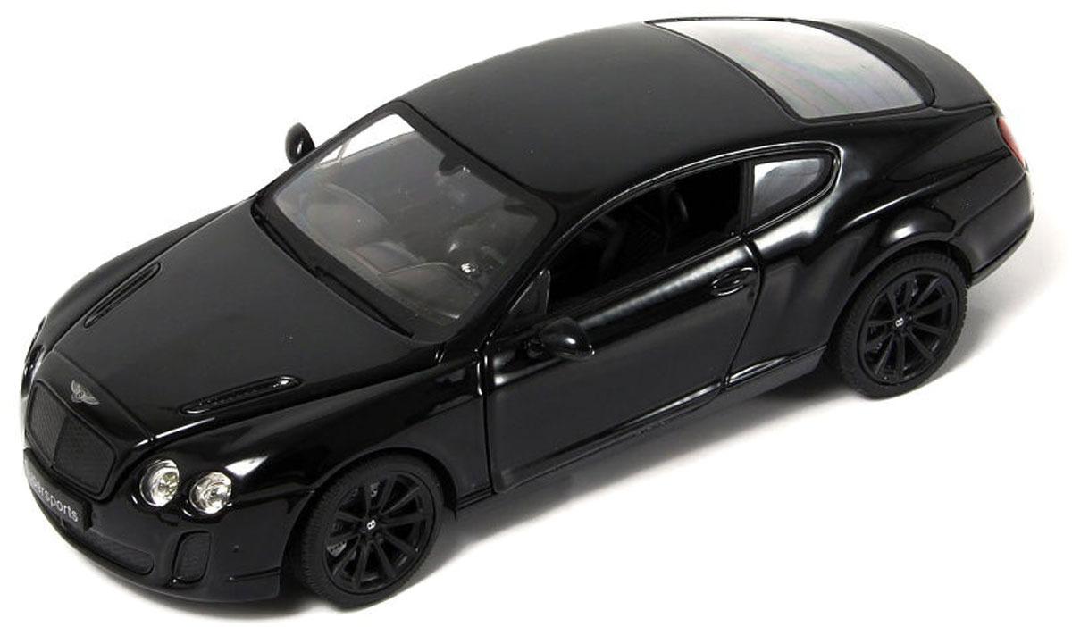 Машинка Hoffmann Bentley Continental GT Supersport, цвет: черный, масштаб 1:24 motormax коллекционная модель мотоцикла kawasaki vulcan цвет синий серебристый масштаб 1 18