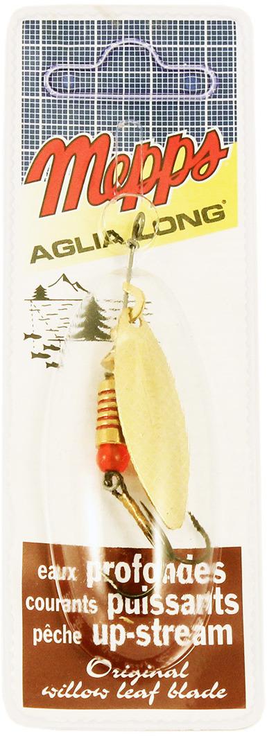 Блесна MEPPS Aglia Longue OR, вращающаяся, №2, цвет: золотой, 7 г