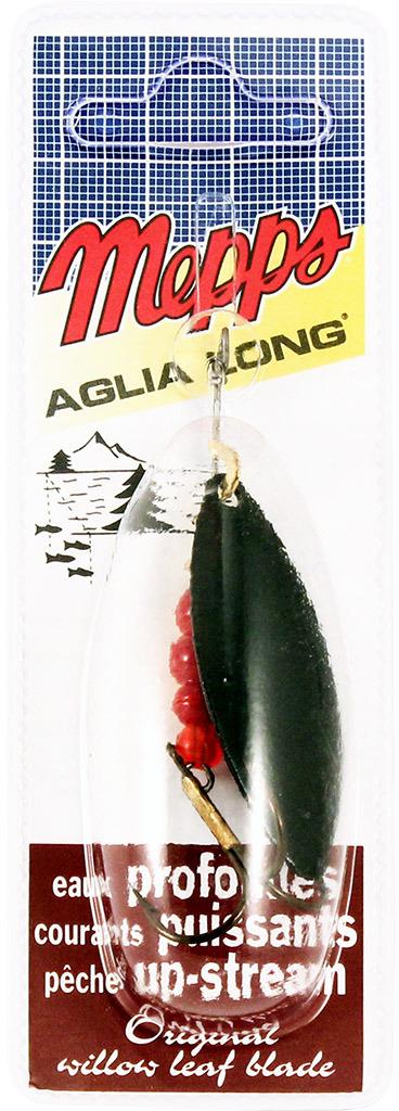 Блесна MEPPS Aglia Longue NR, вращающаяся, №3, цвет: черный, 11,5 г