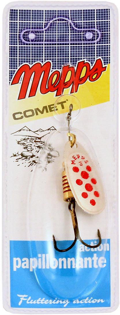 Блесна MEPPS Comet PTS Rouges AG, вращающаяся, №3, цвет: красный, серебристый, 6,5 г mepps comet pts