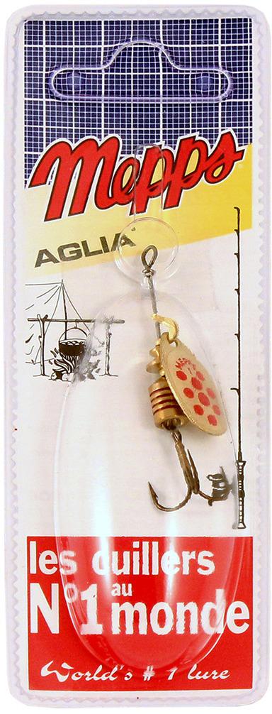 Блесна MEPPS Aglia PTS Rouges OR, вращающаяся, №1, цвет: золотой, красный, 3,5 г