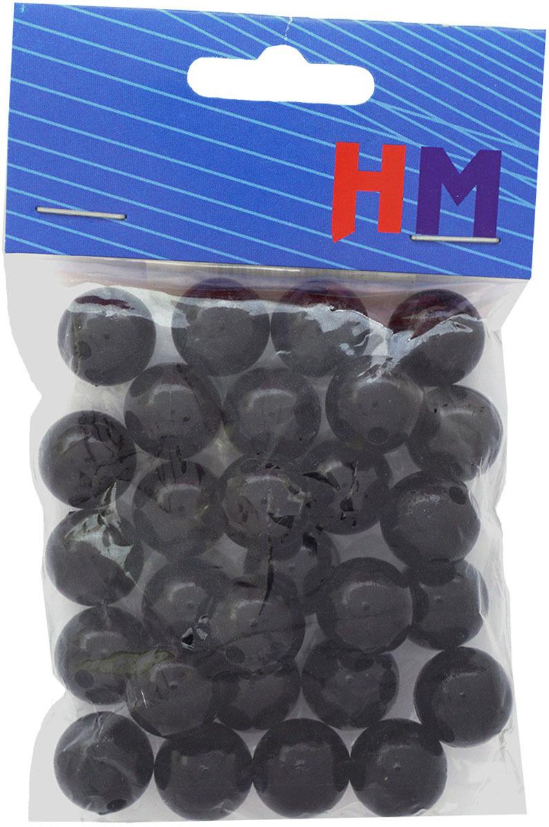 Бусины H&M, круглые, цвет: черный, 14 мм, 25 г футболка мужская adidas mufc h preshi цвет черный dp2285 размер m 48 50