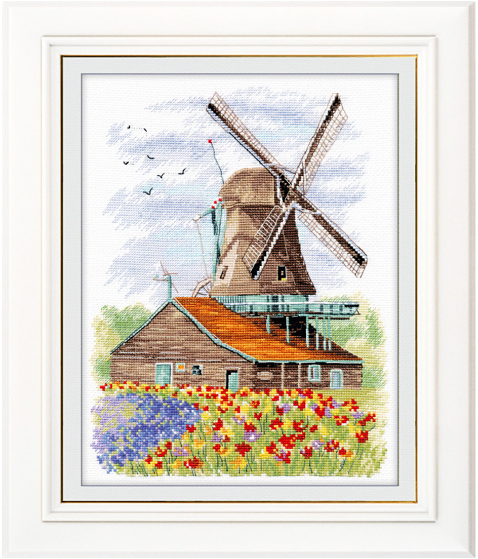 Набор для вышивания крестом Овен Ветряная мельница. Голландия, 19 х 24 см набор для вышивания крестом овен наш цветочек 23 х 24 см