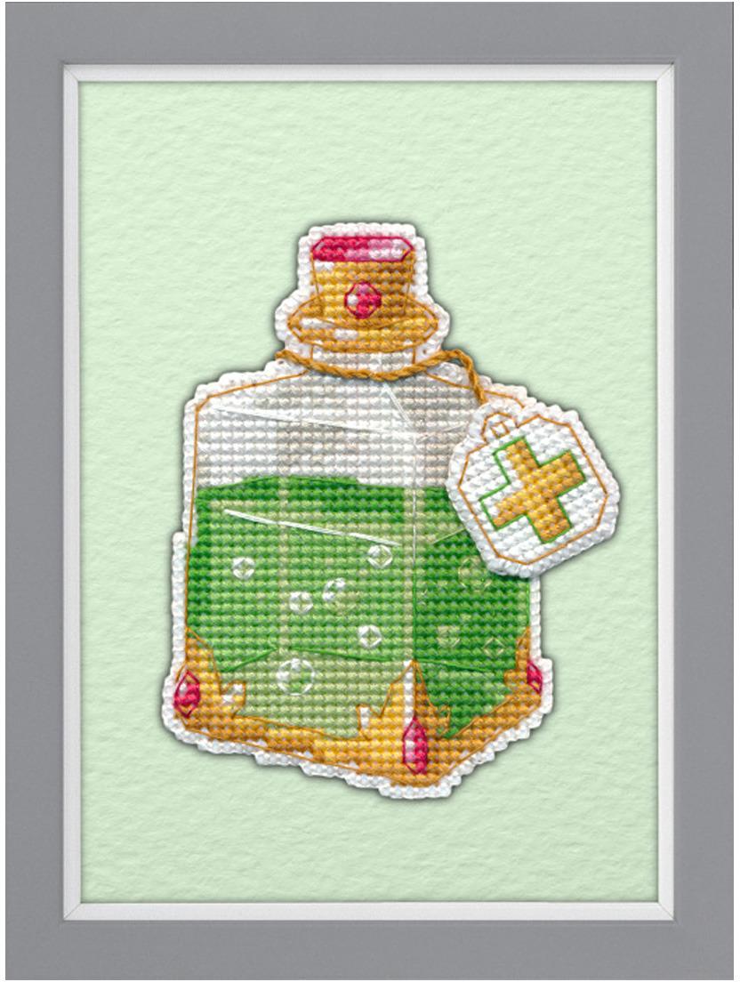 Набор для вышивания магнита Овен Эликсир здоровья на пластиковой основе, 6,2 х 9,1 см набор для вышивания магнита овен анапа на пластиковой основе 13 х 7 см