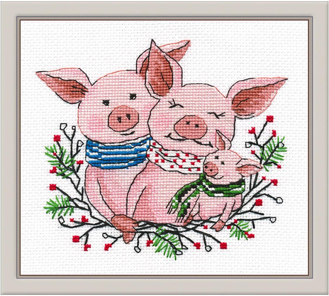 Набор для вышивания крестом Овен Семейное счастье, 14 х 12 см набор для вышивания магнита овен анапа на пластиковой основе 13 х 7 см