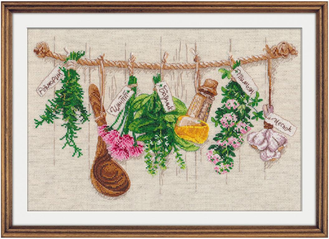 Набор для вышивания крестом Овен Душистые травы, 34 х 22 см набор для вышивания крестом овен петербургская набережная 22 х 25 см