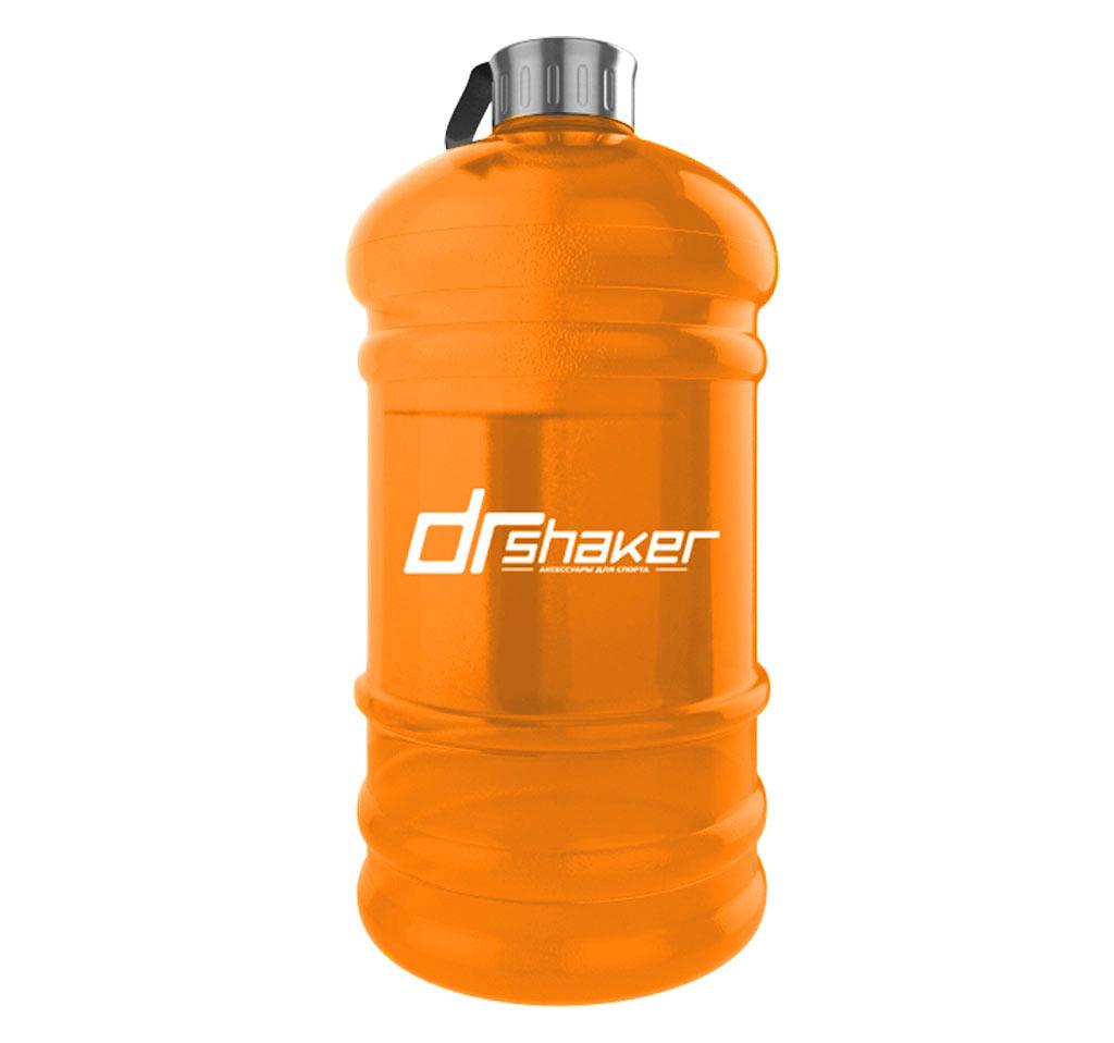 """Бутылка для воды DrShaker BB01-2200, оранжевыйBB01-2200/OrangeСпортивная бутылка BB01-2200 оригинальной формы """"канистра"""" с удобной ручкой выполнена из материала PETG. Удобная крышка не оставит никого равнодушным, обеспечивая герметичность и удобство использования.На крышке имеется короткий шнурок для удобства переноски и вы можете не бояться потерять крышку . Она никуда не потеряется"""