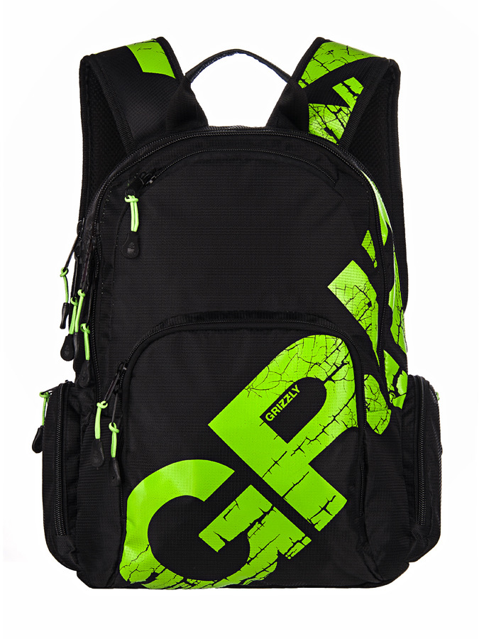 Рюкзак городской Grizzly, цвет: салатовый, 16 л. RU-423-1/3 рюкзак молодежный grizzly 16 л ru 808 2 2