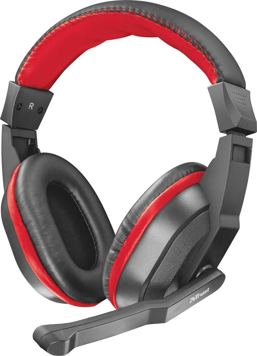 лучшая цена Игровые наушники Trust Ziva, цвет: красный, черный