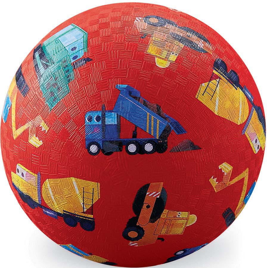 Мяч детский Crocodile Creek Маленький строитель, 13 см хаха мяч rocking horse детский открытый фитнес игрушки музыкальные красочные надувные прыжки маккавеев толстый маленький лошадь
