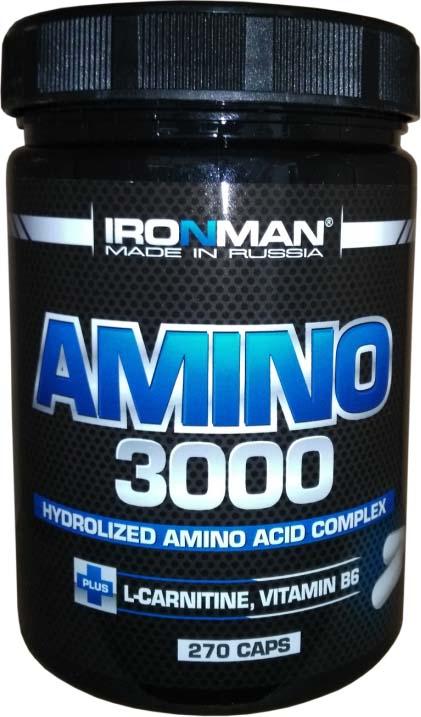 Аминокислоты Ironman Amino 3000, 270 капсул
