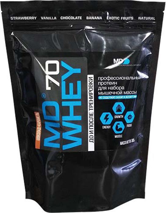 Протеин MD Whey 70, шоколад-карамель, 300 г цена