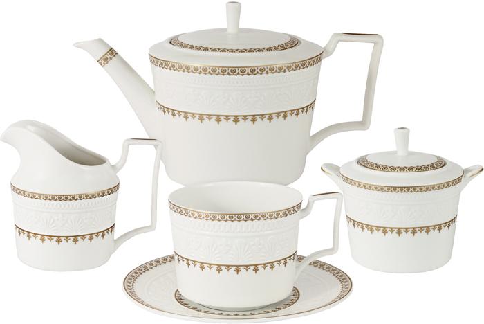"""Набор чайный Colombo """"Золотой замок"""", 15 предметов"""