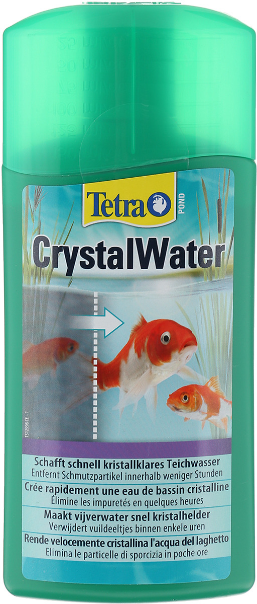 Средство для очистки прудовой воды от мути Tetra Pond Crystal Water, 500 мл препарат sera pond bio balance kh ph stabilizer для стабилизации параметров воды в пруду 550г