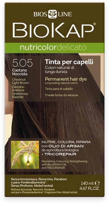 Краска для волос BioKap, тон 5.05 Каштановый Светло-Коричневый, 140 мл