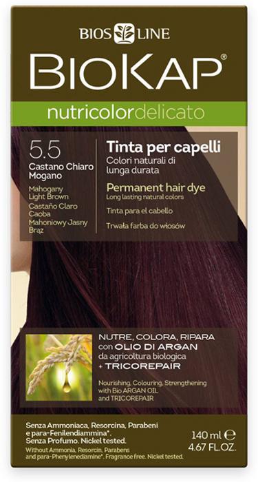 Краска для волос BioKap, тон 5.50 Махагон (светло-коричневато-красный), 140 мл
