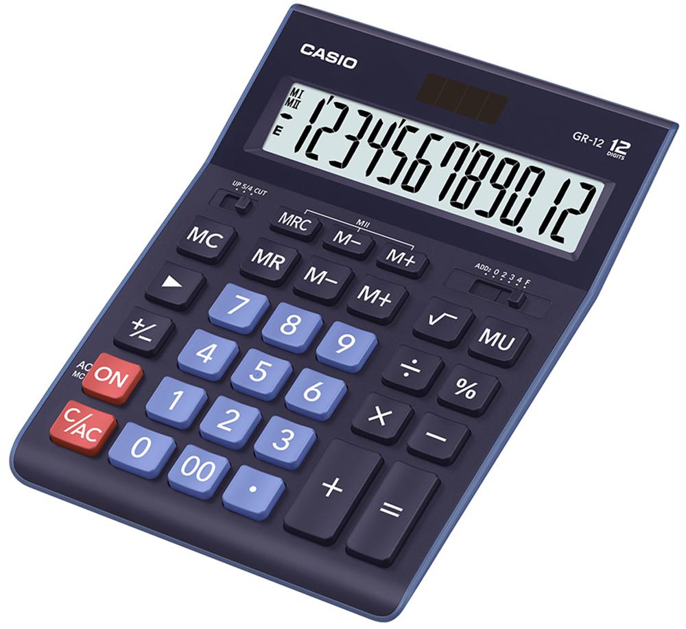 Калькулятор настольный Casio GR-12BU цвет темно-синий ноутбук в режиме калькулятора