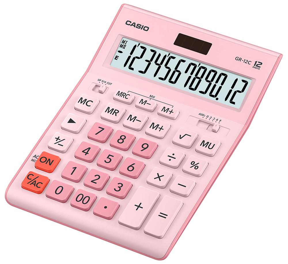 Калькулятор настольный Casio GR-12C-PK цвет розовый ноутбук в режиме калькулятора