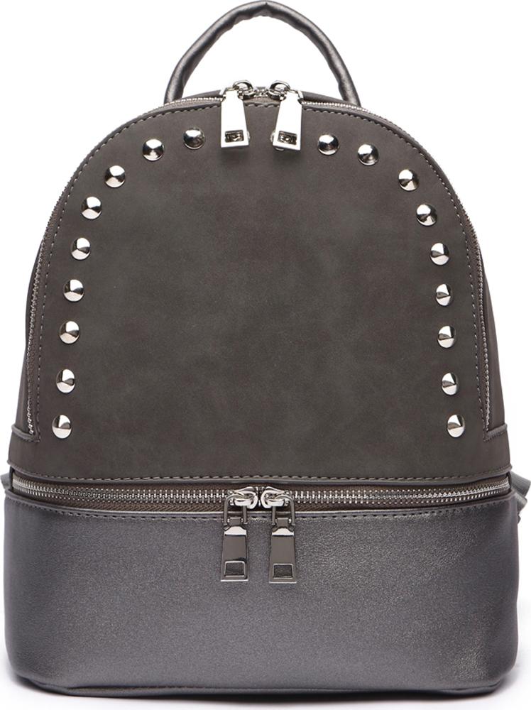 Сумка-рюкзак женская DDA, цвет: серый. DDA LB-1185GR шапка женская labbra цвет темно розовый серый lb rr33005 dirty pink grey размер универсальный