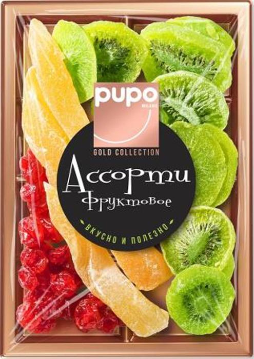 Pupo Gold Collection фруктовое ассорти дыня, киви, вишня без косточек, 230 г