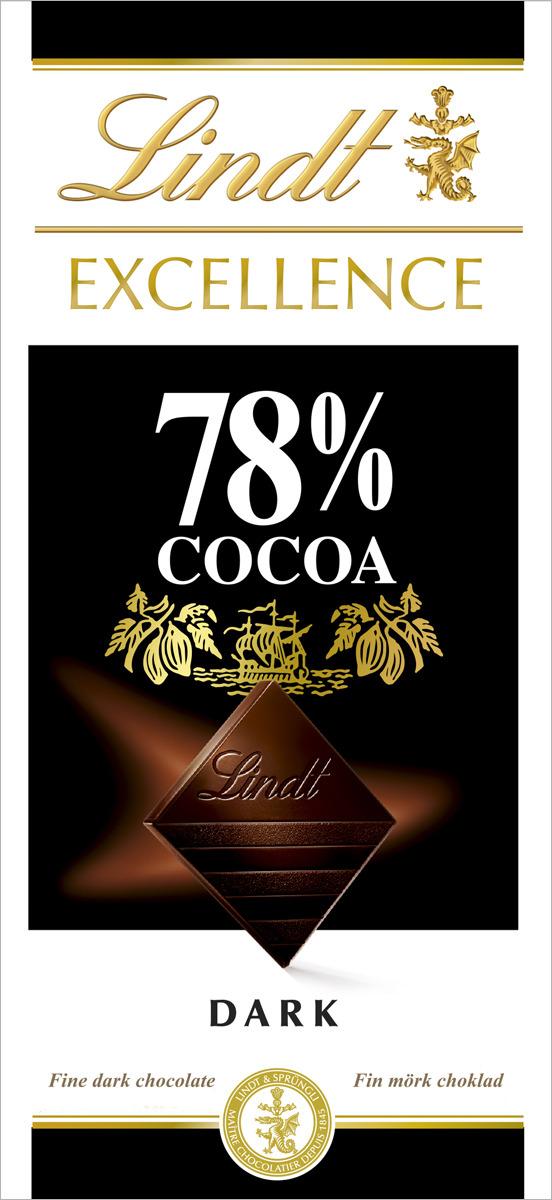 Плиточный шоколад Lindt Excellence, горький, 100 г шоколад lindt excellence малина 100г