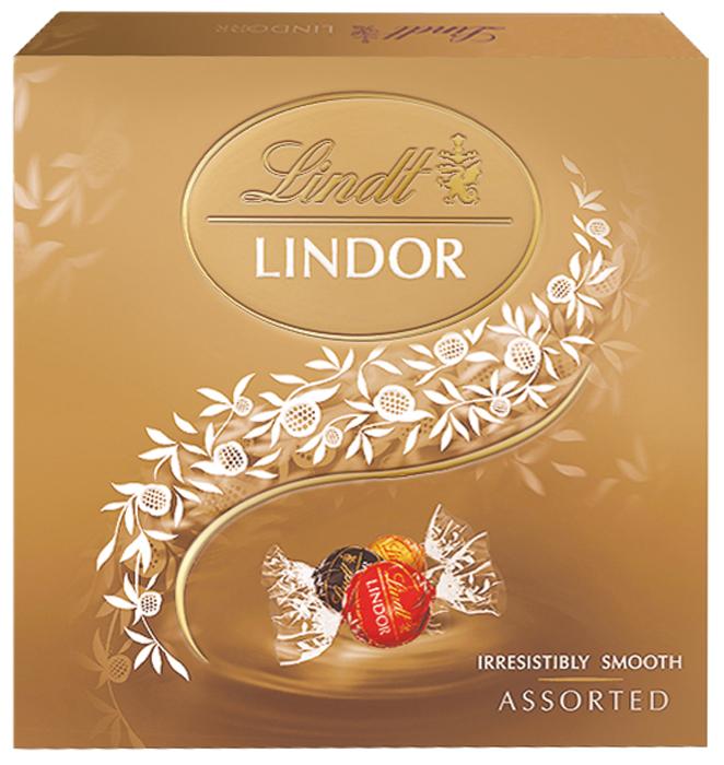 Конфеты Lindt Lindor, ассорти, 125 г шоколад lindt lindor молочный 200г