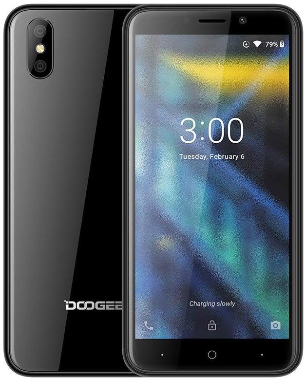 Смартфон Doogee X50 1/8GB, черный сотовый телефон doogee x50 blue