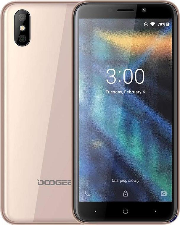 Смартфон Doogee X50 1/8GB, золотой сотовый телефон doogee x50 blue