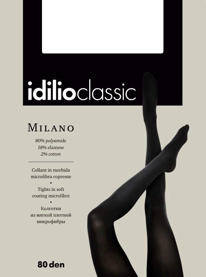 Колготки женские Idilio Milano 80, цвет: Nero (черный). kw03 . Размер 2kw03Колготки из мягкой плотной микрофибры. Без шортиков, комфортные швы, гигиеническая ластовица, невидимый мысок