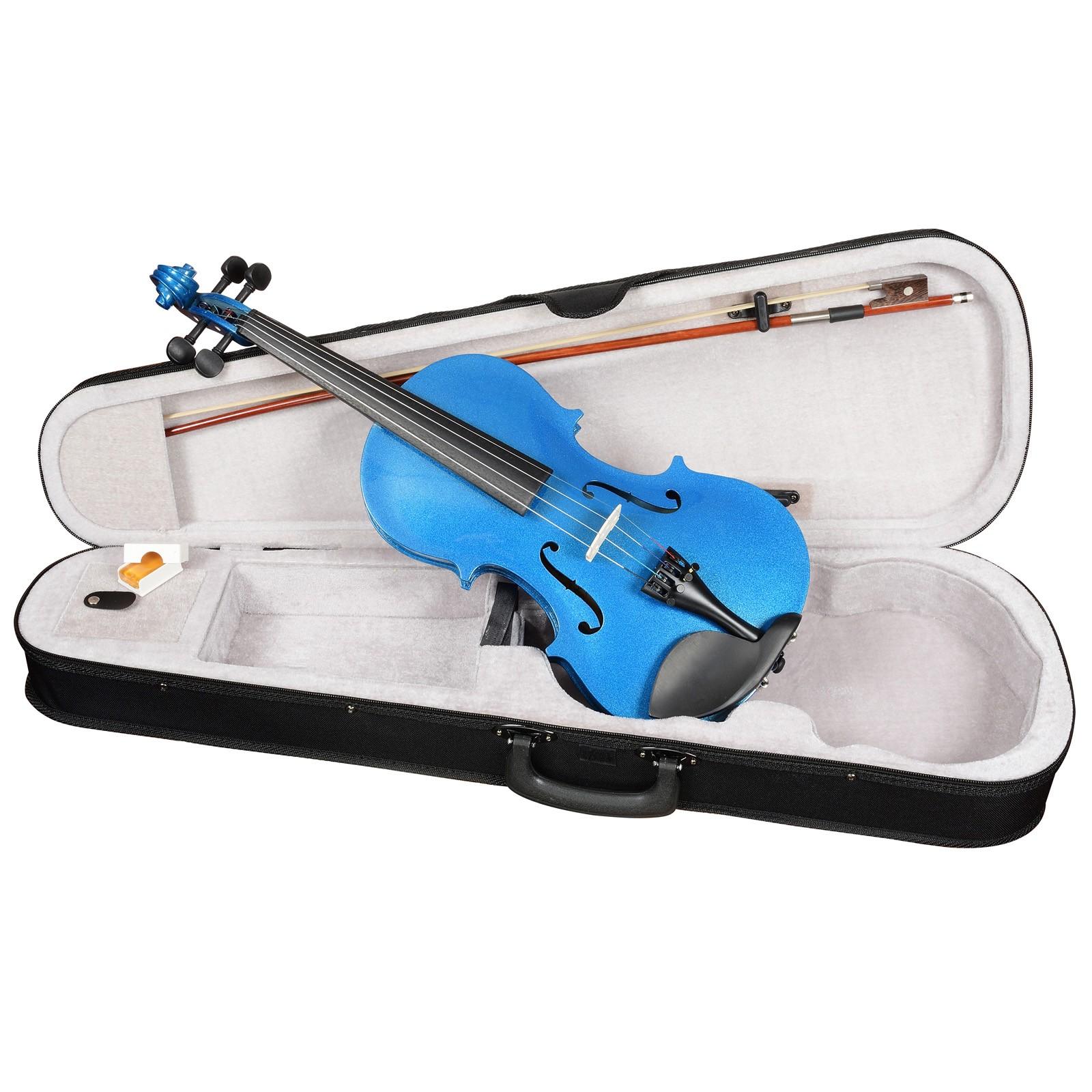 ANTONIO LAVAZZA VL-20 BL 1/8 - Скрипка размер 1/8, цвет - СИНИЙ металлик (КОМПЛЕКТ - кейс + смычок + канифоль)
