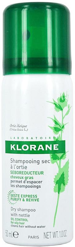 Шампунь сухой с экстрактом крапивы Klorane, 50 мл где купить шампунь klorane