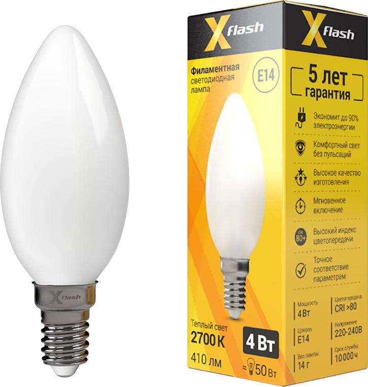 Лампа светодиодная X-Flash XF-E14-FLM-C35-4W-2700K-230V