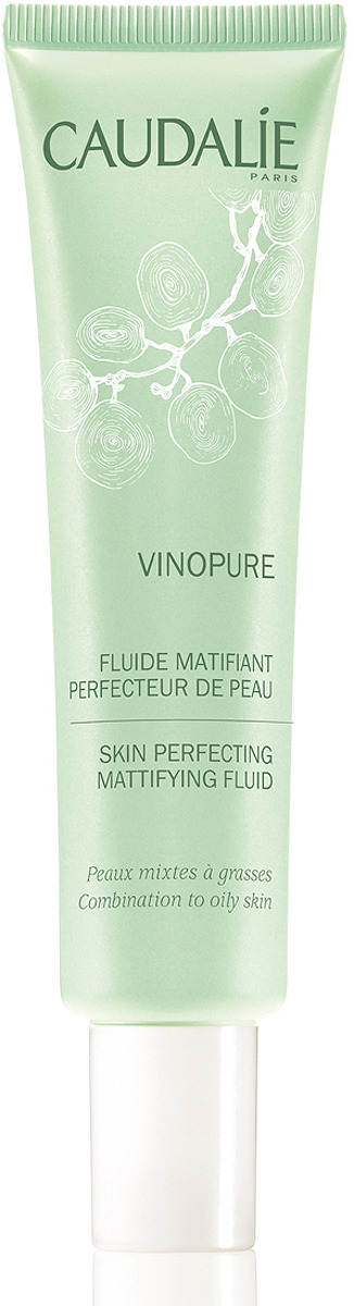 Флюид сужающий поры Caudalie Vinopure, матирующий, 40 мл caudalie vinosource fluide matifiant hydratant флюид матирующий увлажняющий 40 мл