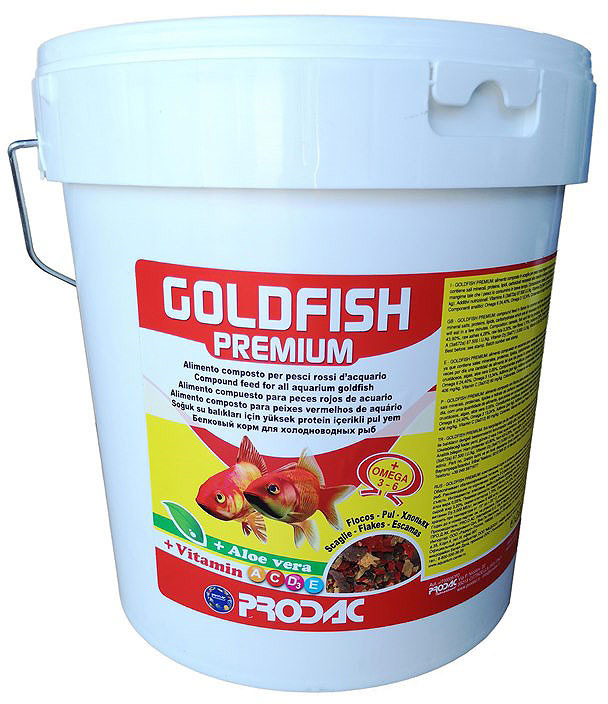 Корм сухой Prodac Goldfish Premium, для аквариумных пресноводных рыб, в виде хлопьев, 2 кг корм сухой prodac goldfish premium для аквариумных пресноводных рыб в виде хлопьев 200 г