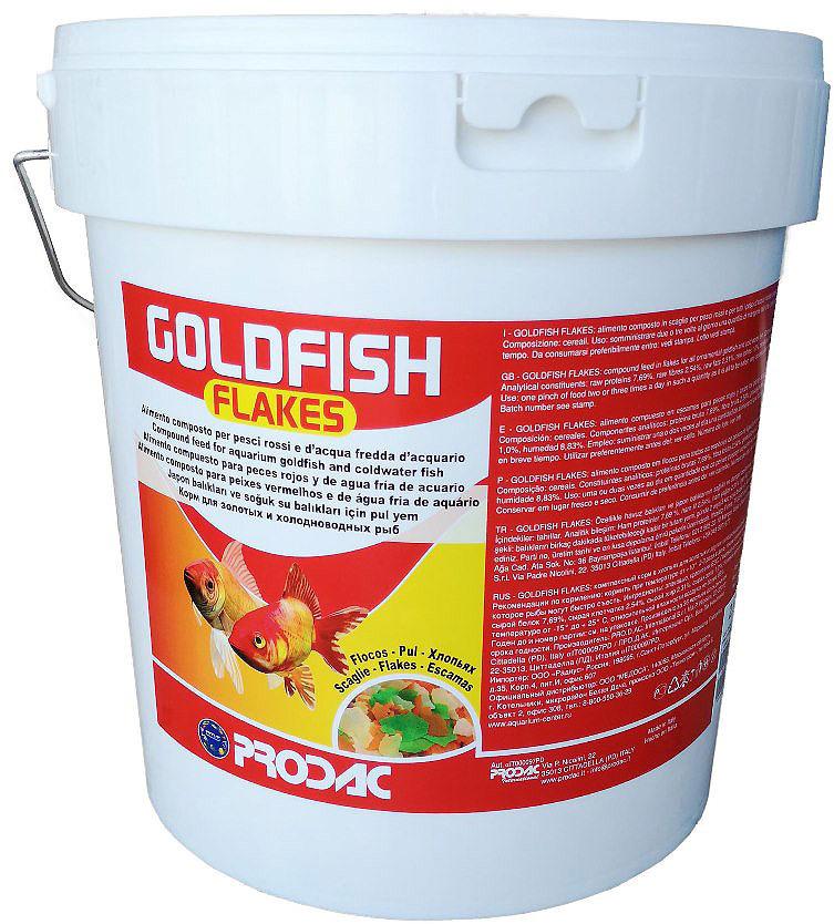 Корм сухой Prodac Goldfish Flakes, для аквариумных пресноводных рыб, в виде хлопьев, 2 кг корм сухой prodac goldfish premium для аквариумных пресноводных рыб в виде хлопьев 200 г