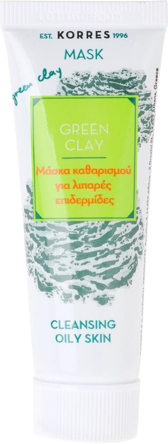 Маска для ухода за кожей Korres для глубокого очищения кожи, зеленая глина, 18 мл5203069065644Формула с натуральной глиной в составе эффективно впитывает и удаляет себум, загрязнения, глубоко очищает кожу, делает ее тон более сияющим и заметно уменьшает поры. Активные ингредиенты: • Зеленая глина - удаляет излишки себума, загрязнения. Очищает и сужает поры, тонизирует кожу, улучшает циркуляцию крови, идеально подходит для жирной кожи • Цинк - регулирует выработку себума • Комплекс липоаминокислот и экстракт корицы - регулирует выработку себума, уменьшает количество комедонов • Экстракт шалфея - оказывает вяжущий эффект • Экстракт Ивы (природный источник салициловой кислоты) - обладает противомикробным и противовоспалительным действием