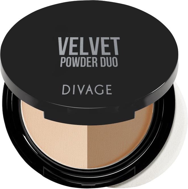 Пудра Divage двухцветная Velvet, тон №1