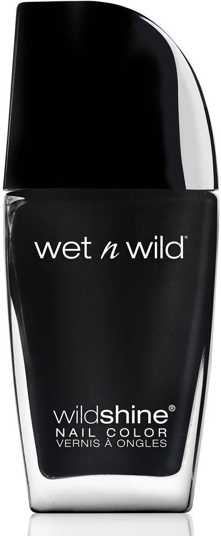 Лак для ногтей Wet n Wild Wild Shine, E485d, тон Black Crme wet n wild лак для ногтей wild shine nail color burgundy frost 13 мл