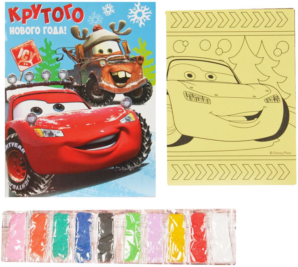 """Фреска-открытка Disney """"Тачки. Крутого Нового года!"""""""