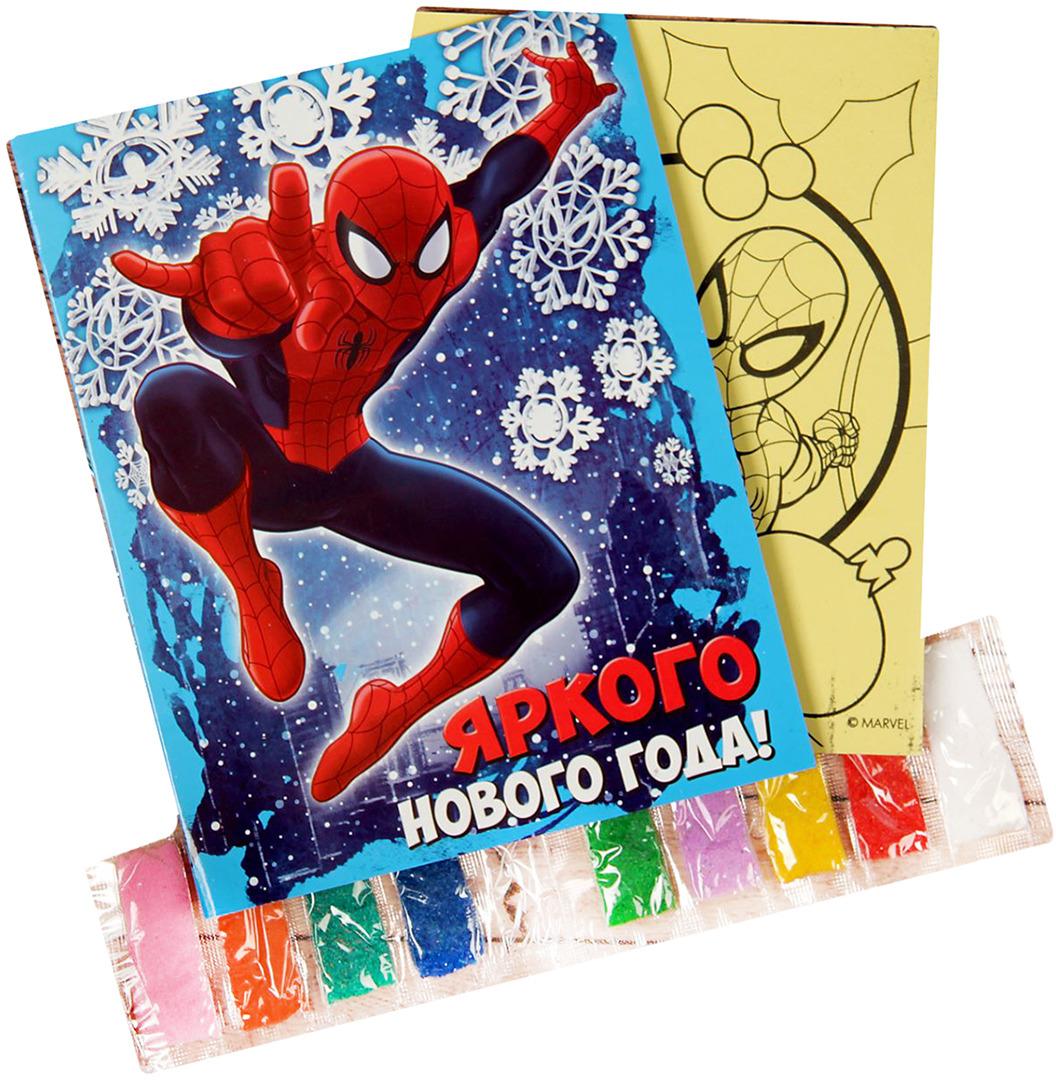 """Фреска-открытка Marvel """"Человек-паук. Яркого Нового года!"""""""