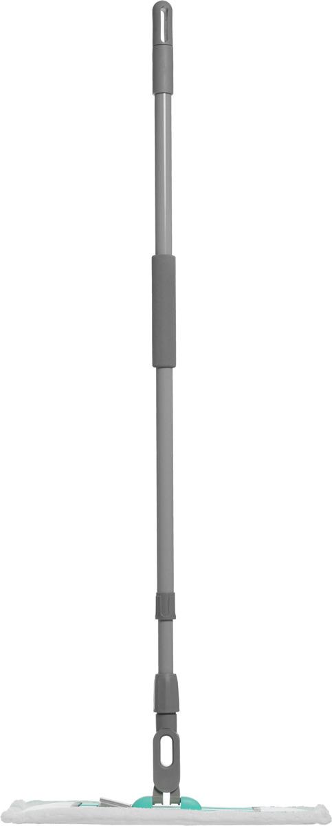 цена на Швабра Hausmann Professional, с телескопической ручкой, цвет: бирюзовый, 120-190 см