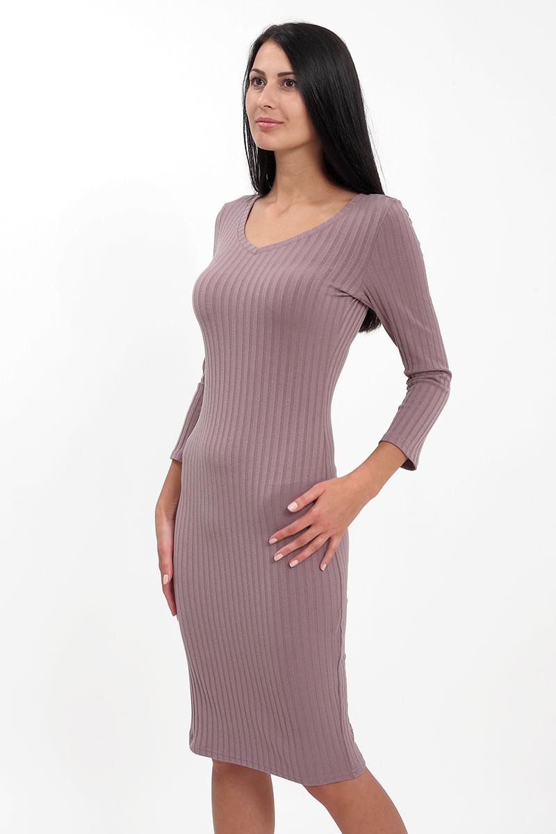 Платье F5 платье с ремешком длина по колено однотонное