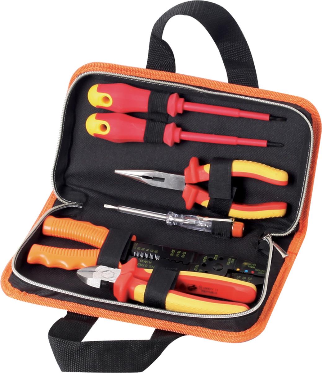 Набор инструментов для электромонтажных работ Кратон DE-01/06, 6 предметов